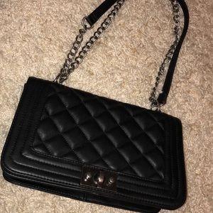 Steve Madden large black quilted bag